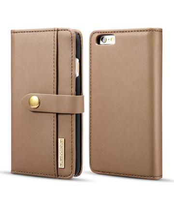 Apple iPhone 6s Echt Leren 2-in-1 Bookcase en Back Cover Hoesje Bruin Hoesjes
