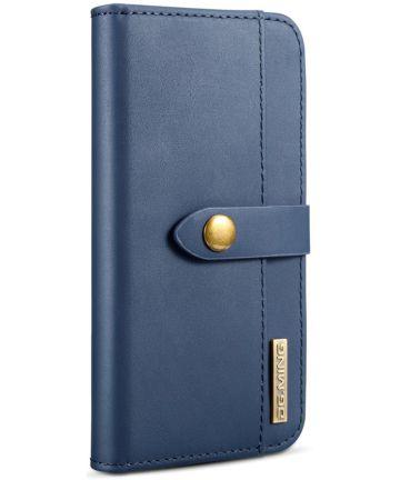 Apple iPhone XS Echt Leren 2-in-1 Bookcase en Back Cover Hoesje Blauw