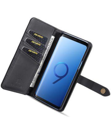 Samsung Galaxy S9 Leren 2-in-1 Bookcase en Back Cover Hoesje Zwart