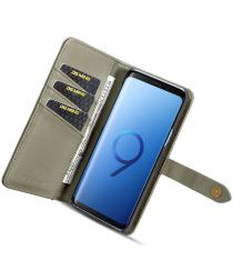 Samsung Galaxy S9 Leren 2-in-1 Bookcase en Back Cover Hoesje Groen