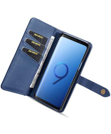 Samsung Galaxy S9 Leren 2-in-1 Bookcase en Back Cover Hoesje Blauw Hoesjes