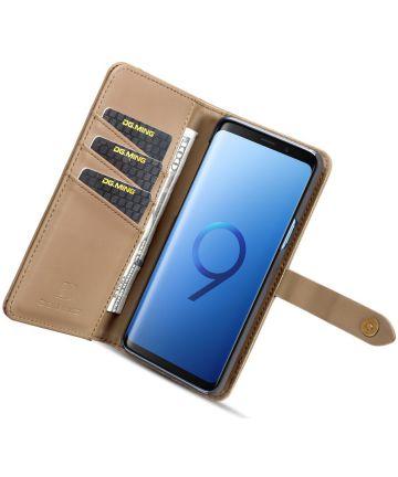 Samsung Galaxy S9 Leren 2-in-1 Bookcase en Back Cover Hoesje Bruin Hoesjes