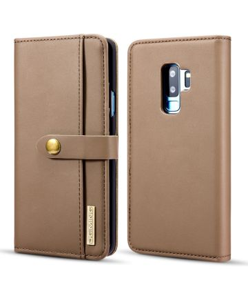 Samsung Galaxy S9 Plus 2-in-1 Bookcase en Back Cover Hoesje Bruin Hoesjes