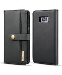 Samsung Galaxy S8 Leren 2-in-1 Bookcase en Back Cover Hoesje Zwart