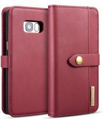 Samsung Galaxy S8 Leren 2-in-1 Bookcase en Back Cover Hoesje Rood