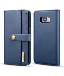 Samsung Galaxy S8 Leren 2-in-1 Bookcase en Back Cover Hoesje Blauw
