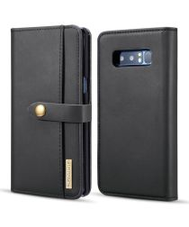 Samsung Galaxy Note 8 Leren 2-in-1 Bookcase en Back Cover Hoesje Zwart