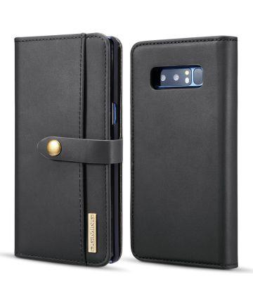 Samsung Galaxy Note 8 Leren 2-in-1 Bookcase en Back Cover Hoesje Zwart Hoesjes