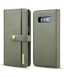 Samsung Galaxy Note 8 Leren 2-in-1 Bookcase en Back Cover Hoesje Groen