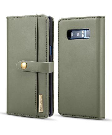 Samsung Galaxy Note 8 Leren 2-in-1 Bookcase en Back Cover Hoesje Groen Hoesjes