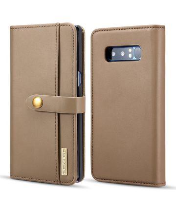 Samsung Galaxy Note 8 Leren 2-in-1 Bookcase en Back Cover Hoesje Bruin