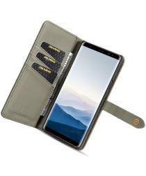 Samsung Galaxy Note 9 Leren 2-in-1 Bookcase en Back Cover Hoesje Groen