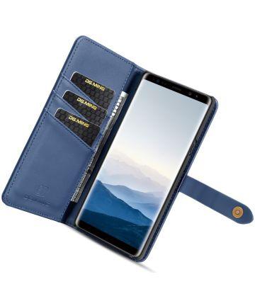 Samsung Galaxy Note 9 Leren 2-in-1 Bookcase en Back Cover Hoesje Blauw Hoesjes
