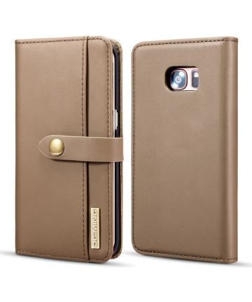 Samsung Galaxy S7 Edge Leer 2-in-1 Bookcase en Back Cover Hoesje Bruin
