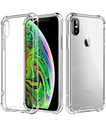 Apple iPhone XS Max Rugged Transparante TPU Back Cover Hoesje Hoesjes