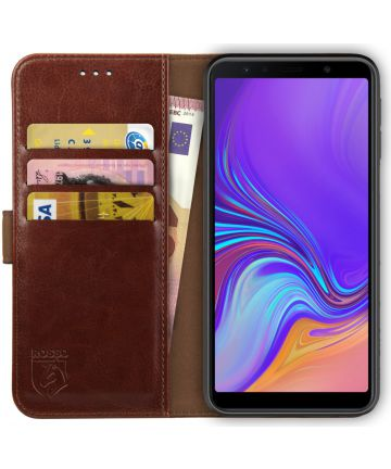 Rosso Element Samsung Galaxy A7 2018 Hoesje Book Cover Bruin Hoesjes