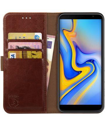 Rosso Element Samsung Galaxy J6 Plus Hoesje Book Cover Bruin Hoesjes