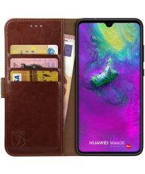 Rosso Element Huawei Mate 20 Hoesje Book Cover Bruin