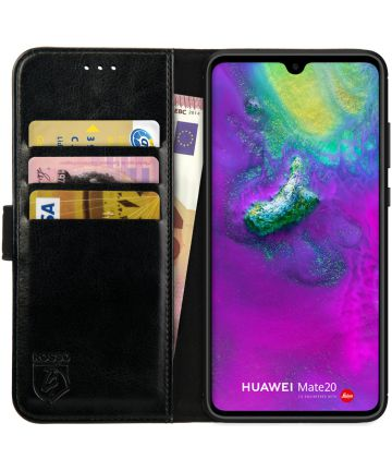 Rosso Element Huawei Mate 20 Hoesje Book Cover Zwart Hoesjes