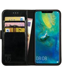 Rosso Element Huawei Mate 20 Pro Hoesje Book Cover Zwart