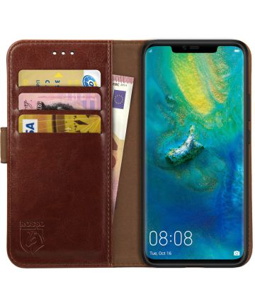 Rosso Element Huawei Mate 20 Pro Hoesje Book Cover Bruin Hoesjes