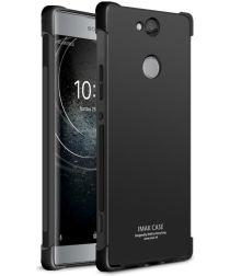 Sony Xperia XA2 Plus TPU Hoesje met Display Folie Zwart