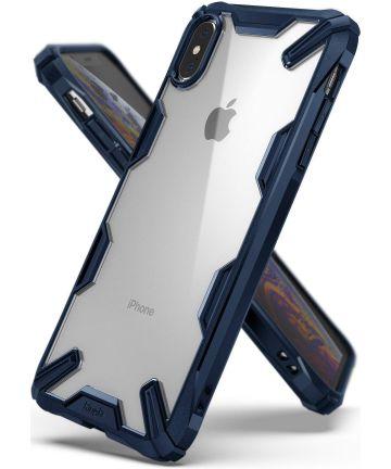 Ringke Fusion X Apple iPhone XS Max Hoesje Doorzichtig Blauw Hoesjes