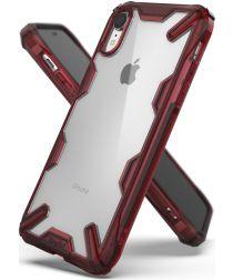 Ringke Fusion X Apple iPhone XR Hoesje Doorzichtig Rood