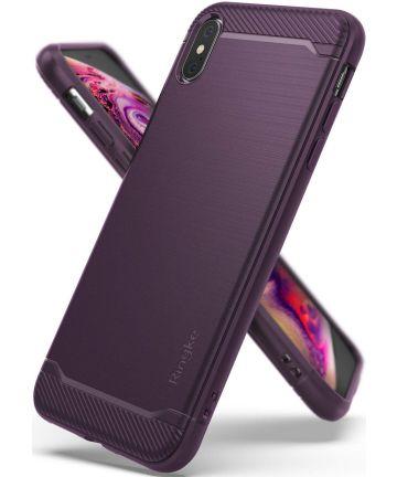 Ringke Onyx X Apple iPhone XS Max Hoesje Paars Hoesjes