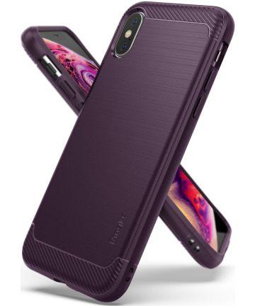 Ringke Onyx Apple iPhone XS Hoesje Paars Hoesjes