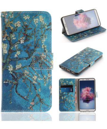 Huawei P Smart Portemonnee Print Hoesje Blossom Hoesjes