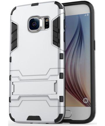 Hybride Samsung Galaxy S7 Back Cover Bescherm Hoesje Zilver Hoesjes