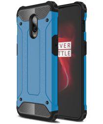 OnePlus 6T Hybride Hoesje Blauw