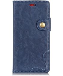Alcatel 1 Crazy Horse Wallet Stand Hoesje Blauw
