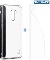 IMAK Crystal II Pro Xiaomi Pocophone F1 Hoesje met Screenprotector