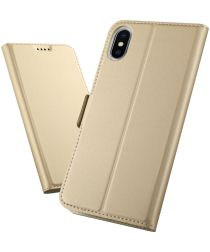 Apple iPhone XS Max Luxe Portemonnee Hoesje Goud