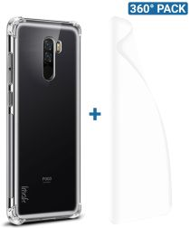 IMAK Xiaomi Pocophone F1 Hoesje TPU met Screenprotector Transparant