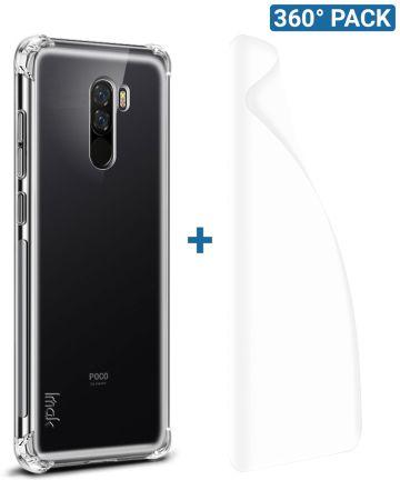 IMAK Xiaomi Pocophone F1 Hoesje TPU met Screenprotector Transparant Hoesjes