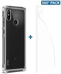 IMAK Xiaomi Mi A2 Lite Hoesje TPU met Screenprotector Transparant