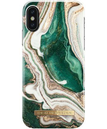 iDeal of Sweden iPhone XS / X Fashion Hoesje Golden Jade