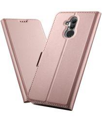 Huawei Mate 20 Lite Portemonnee Hoesje Roze Goud
