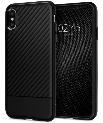 Spigen Core Armor Case Flexibel TPU Hoesje Apple iPhone XS Zwart Hoesjes