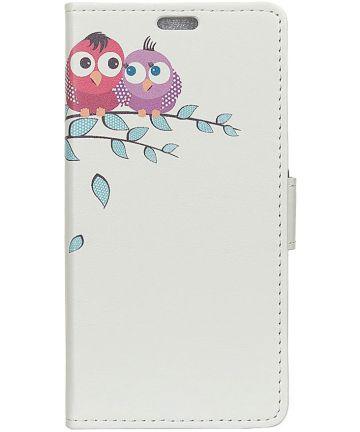 Samsung Galaxy J6 Plus Portemonnee Print Hoesje met Uil Print