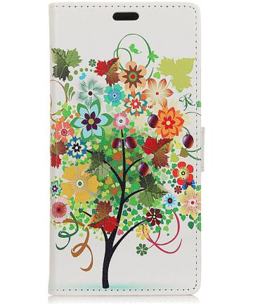 Samsung Galaxy J6 Plus Portemonnee Print Hoesje met Boom Print
