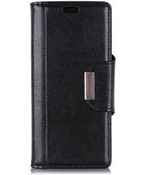 Nokia 7.1 Stijlvol Hoesje met Kaarthouder Zwart