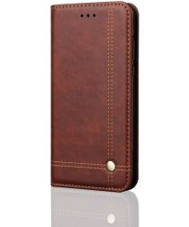 Xiaomi Redmi 6 Retro Style Wallet Flip Case Bruin