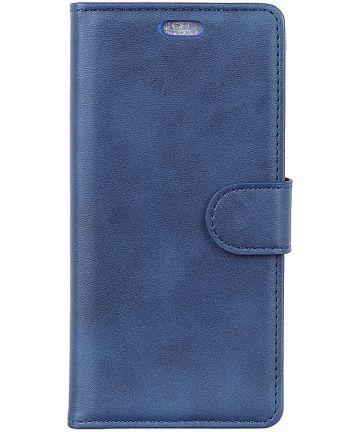 LG V40 Stijlvol Portemonnee Hoesje Blauw Hoesjes