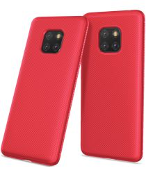 Huawei Mate 20 Pro Twill Slim Texture Back Cover Rood