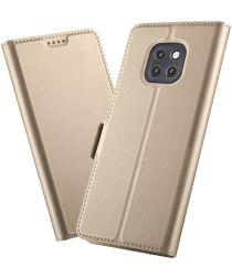 Huawei Mate 20 Pro Hoesje met Kaarthouder Goud