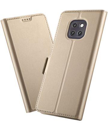Huawei Mate 20 Pro Hoesje met Kaarthouder Goud Hoesjes